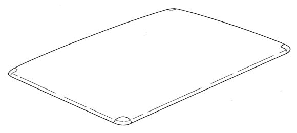 Apple carbon fiber iPad body patent illustration