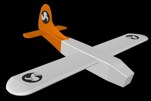 The virtual Vulture 1 with its paper skin