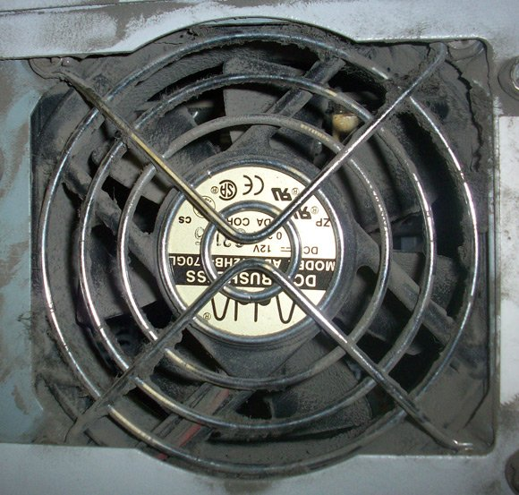 Dusty fan vent