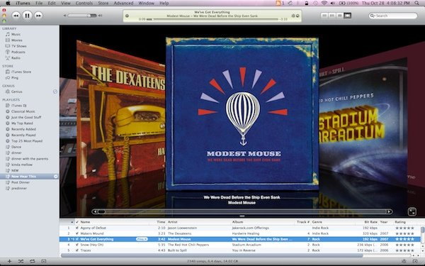 Screen capture of iTunes on Mac
