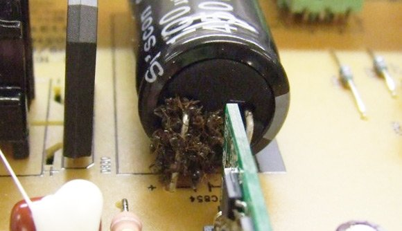 Another close-up of ants inside monitor