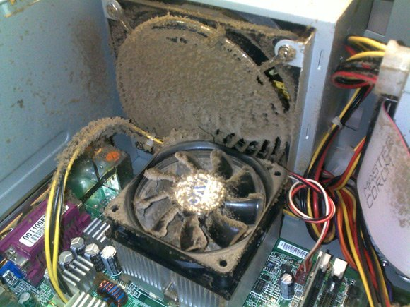 Very dusty CPU fan
