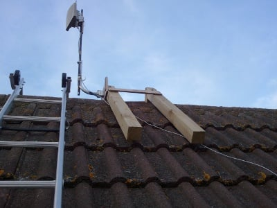 The roof top antenna as it stands today