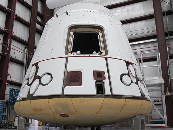 The Dragon Capsule. Pic: SpaceX