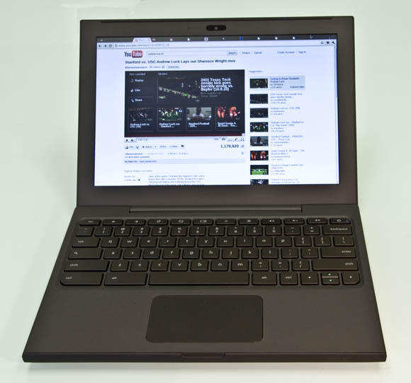 Google Chrome OS-equipped Cr-48: front view