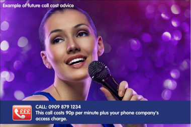Ofcom example of on-screen pricing