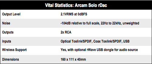 Arcam rDac