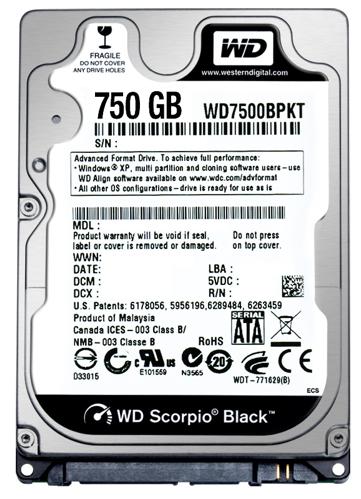 Scorpio Black 750GB