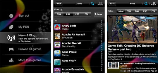 Playstation App for iPhone