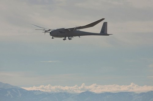 The Global Observer on its first hydrogen-powered flight. credit: US Air Force