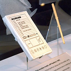 Original PalmPilot mock up @ The Computer History Museum, photo: Gavin Clarke