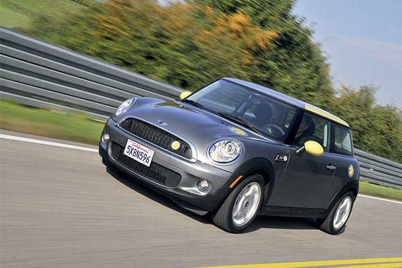 The Mini-E in action. Credit: Mini