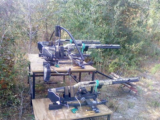 Web Controlled Gun Set-up