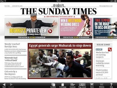 Sunday Times iPad app