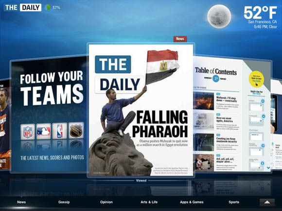 News Corporation's iPad app, The Daily