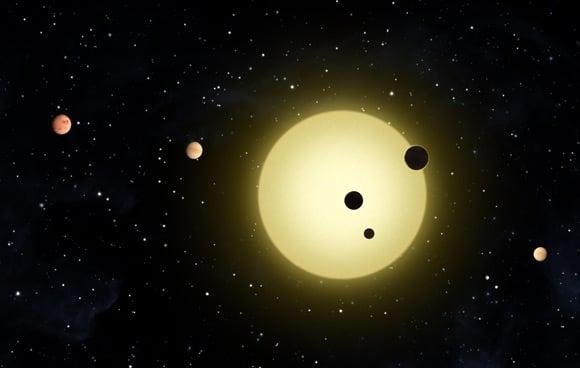 Artist's representation of the Kepler-11 system. Pic: NASA