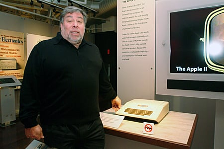 Woz with Apple II (photo: Gavin Clarke)