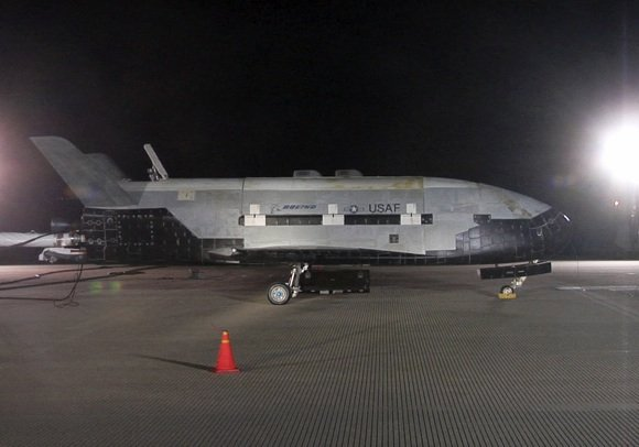 The X-37B at Vandenberg AFB following maiden flight. Credit: USAF