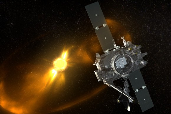 Artist's impression of STEREO probe viewing the Sun. Image: NASA