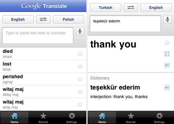 Google Translate for iOS