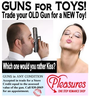 Flyer for the Guns for Toys offer