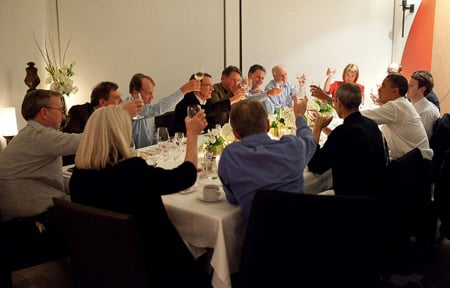 Obama and Silicon Valley dinner, Official White House Photo by Pete Souza