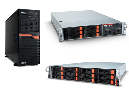 Acer tower and rack servers