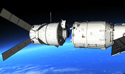 ATV docking with the ISS. Pic: ESA
