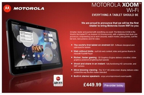 Motorola Xoom at Di