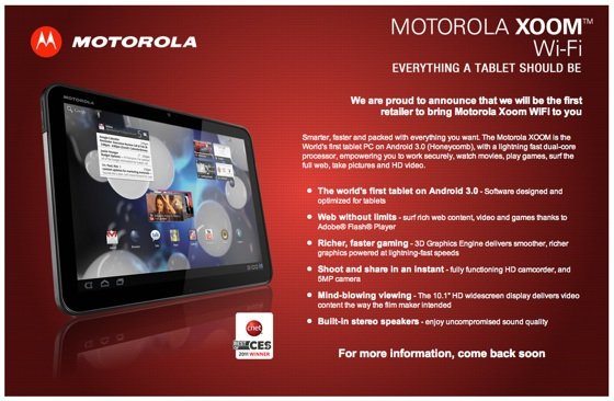 Motorola Xoom at Dixons