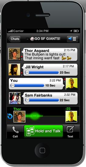 Voxer iPhone app