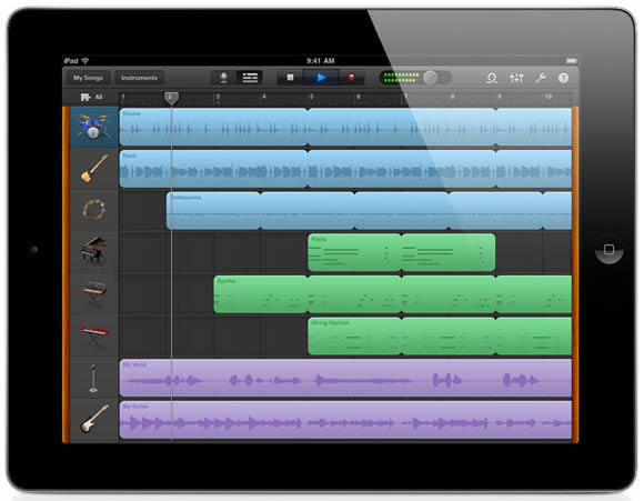 GarageBand for iPad