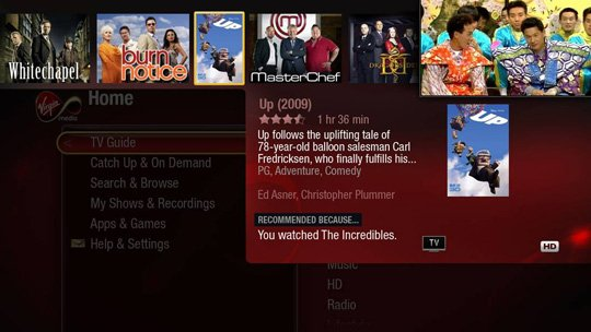Virgin TV TiVo