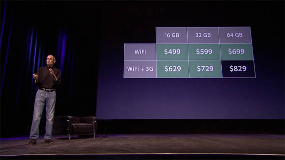 Steve Jobs explains iPad 2 pricing