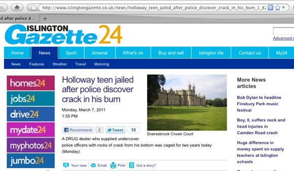 Islington Gazette arrest