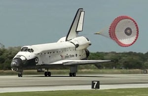 Discovery touches down at Kennedy Space C