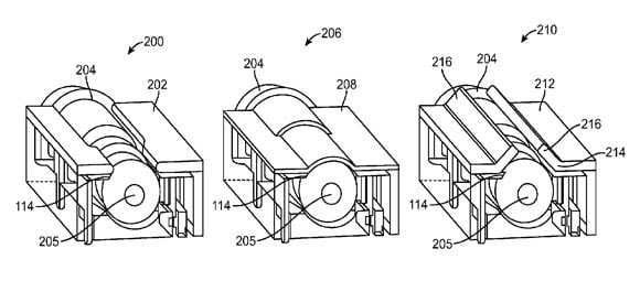 Apple 'Low Profile Plug' patent application illustration 