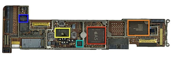 Apple iPad 2 logic board (image: iFixit)