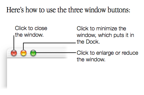Mac OS X Cheetah window buttons