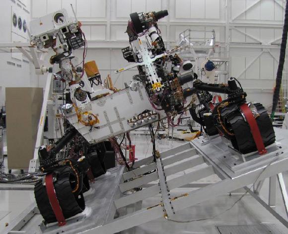 The Curiosity Mars rover. Pic: NASA