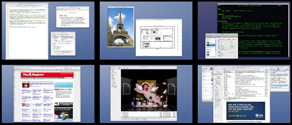 Mac OS X's multi-workspace Spaces feature