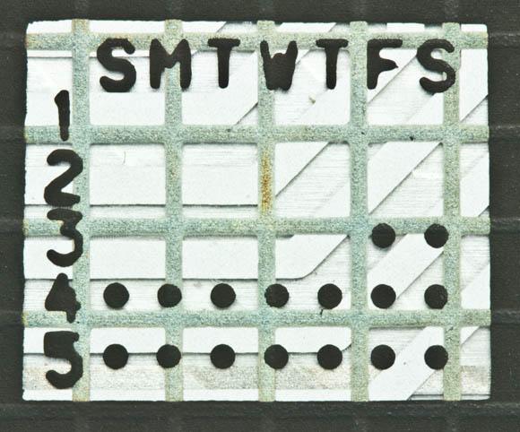 Osborne 1, second version - keyboard calendar