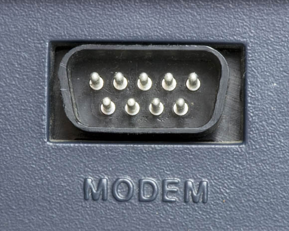 Osborne 1, second version - modem port