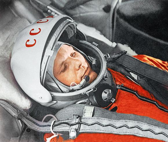 Gagarin in his Vostok capsule. Pic: RIA Novosti