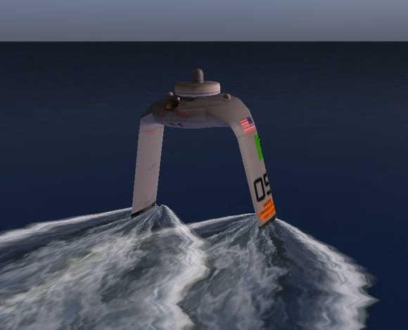 Screenshot from DARPA's ACTUV game. Credit: DARPA/Sonalysts