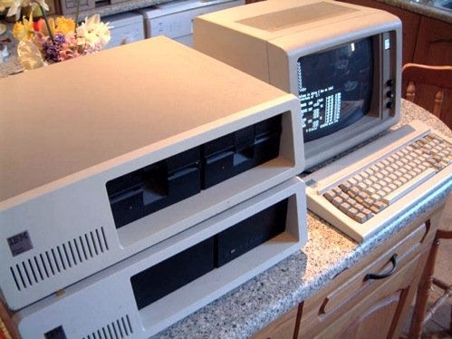IBM 5150 PC with 5156 expansion box