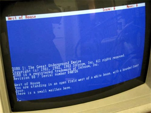 Zork1 running on IBM 5150