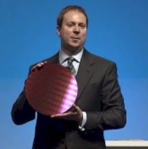 Intel IDF Beijing Poulson wafer