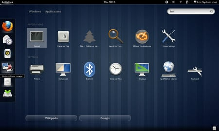 Search in the Fedora 15 beta