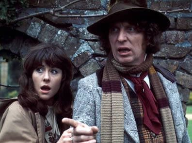 Elisabeth Sladen and Tom Baker